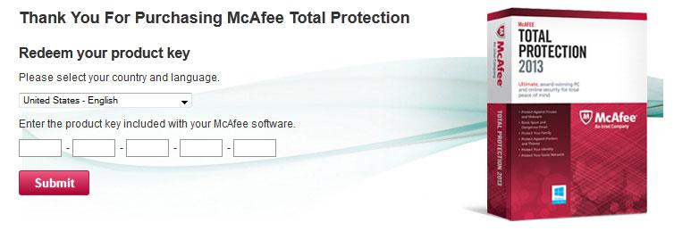 Installing Mcafee - Step 1 Alternate
